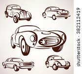 retro cars vector collection... | Shutterstock .eps vector #382112419