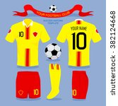 soccer uniform template for... | Shutterstock .eps vector #382124668