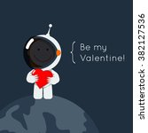 cute flat style astronaut with...   Shutterstock .eps vector #382127536