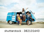 summer holidays  road trip ... | Shutterstock . vector #382131643
