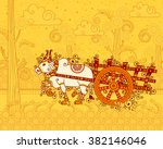 vector design of bullock cart... | Shutterstock .eps vector #382146046
