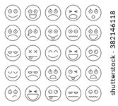 set of smiley icons. emoticons | Shutterstock .eps vector #382146118