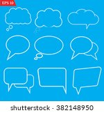 speech bubbles icons set on... | Shutterstock .eps vector #382148950