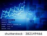 2d business graph background | Shutterstock . vector #382149466