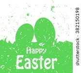 happy easter holiday card  | Shutterstock .eps vector #382150198