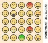 emoticon set vector | Shutterstock .eps vector #382160620