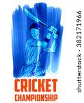 illustration of batsman playing ... | Shutterstock .eps vector #382171966
