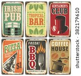 vintage style signs. retro... | Shutterstock .eps vector #382179610