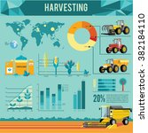 vector set of agricultural... | Shutterstock .eps vector #382184110