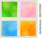 Watercolor Squares Shape...
