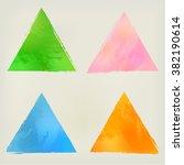 Watercolor Triangle Shape...
