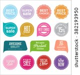 modern sale stickers collection | Shutterstock .eps vector #382193950