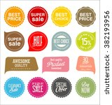 modern sale stickers collection   Shutterstock .eps vector #382193956