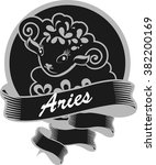 portrait of aries zodiac sign... | Shutterstock .eps vector #382200169