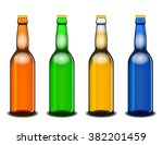 set of four colorful beer... | Shutterstock .eps vector #382201459