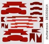 set of ribbons | Shutterstock .eps vector #382202614