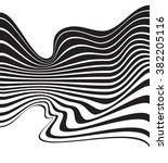 optical art background wave... | Shutterstock .eps vector #382205116