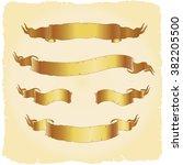 old banners vector set | Shutterstock .eps vector #382205500