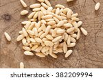 iberian pine nuts | Shutterstock . vector #382209994
