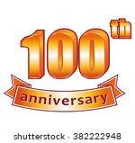 100th anniversary. golden label.