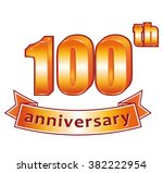 100th anniversary. golden...