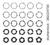 set of different black vector... | Shutterstock .eps vector #382224730