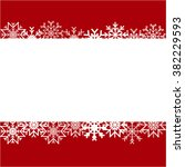 paper snowflake border on red... | Shutterstock .eps vector #382229593