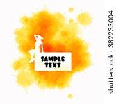 watercolor banner in soft...   Shutterstock .eps vector #382233004