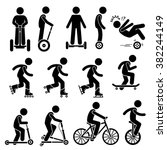 park ride vehicles stick figure ... | Shutterstock .eps vector #382244149
