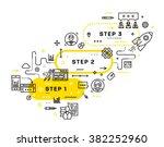 flat style  thin line art... | Shutterstock .eps vector #382252960