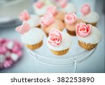 dessert table for a party | Shutterstock . vector #382253890
