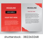 abstract vector modern brochure ... | Shutterstock .eps vector #382263268