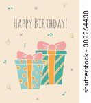 happy birthday card   template... | Shutterstock .eps vector #382264438