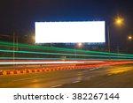 Blank Billboard At Night Time...