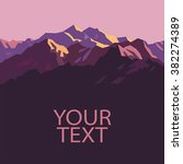 Pink Mountains. Place For Text...