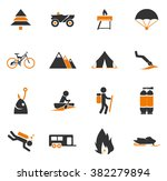 active recreation simply icons... | Shutterstock .eps vector #382279894