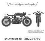 vintage motorcycle. cafe racer... | Shutterstock .eps vector #382284799