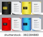 set of covers annual report... | Shutterstock .eps vector #382284880