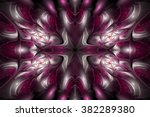 abstract glossy flower petals... | Shutterstock . vector #382289380