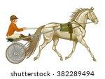 trotter in harness | Shutterstock .eps vector #382289494