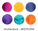 watercolor circles | Shutterstock . vector #382291960