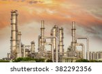 oil and gas industry   refinery ... | Shutterstock . vector #382292356
