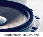 part of yellow old car audio... | Shutterstock . vector #382293490