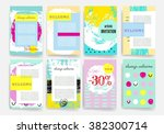 template. set of trendy posters ... | Shutterstock .eps vector #382300714
