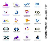 business icons set isolated on... | Shutterstock .eps vector #382301749