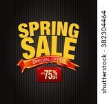 spring sale poster with percent ... | Shutterstock .eps vector #382304464