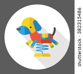 toy dog flat icon | Shutterstock .eps vector #382315486