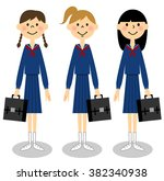 japanese junior high school... | Shutterstock . vector #382340938