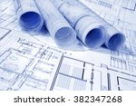 architectural project | Shutterstock . vector #382347268