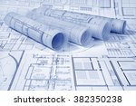 architectural project | Shutterstock . vector #382350238